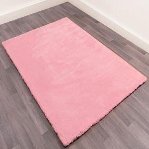 Lulu Pink Shaggy Rug by Ultimate Rug