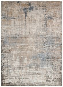 Luzon LUZ802 Taupe Blue Abstract Rug by Concept Looms