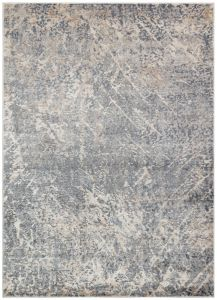 Luzon LUZ803 Blue Ivory Abstract Rug by Concept Looms