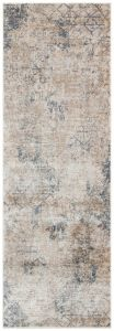 Luzon LUZ804 Ivory Taupe Abstract Runner by Concept Looms