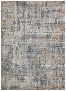Luzon LUZ806 Blue Taupe Abstract Rug by Concept Looms