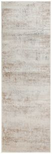 Luzon LUZ809 Ivory Taupe Grey Abstract Runner by Concept Looms