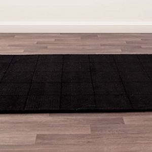 Madison Black Wool Rug by Ultimate Rug