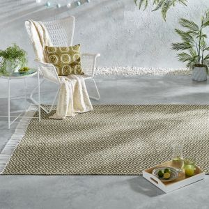 Malmo Recycled Sigrid Green Kilim Rug by Flair Rugs