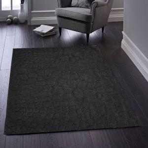 Marbles Charcoal Luxury Wool Rug by Origins