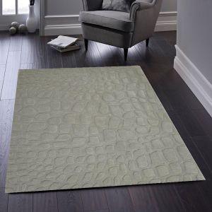 Marbles Grey Luxury Wool Rug by Origins