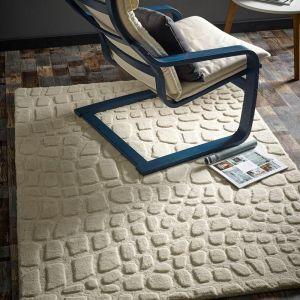 Marbles Ivory Luxury Wool Rug by Origins
