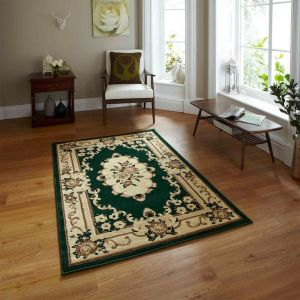 Think Rugs Marrakesh Dark Green Traditional Rug