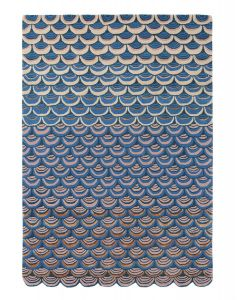 Masquerade 160008 Blue Wool Rug by Ted Baker