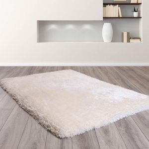 Mayfair Ivory Shaggy Rug by HMC