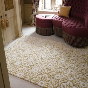 MAYFAIR Knightsbridge Gold Wool Rug by Flair Rugs
