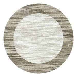 Mehari 023 0042 6878 Beige Bordered Circle Rug by Mastercraft
