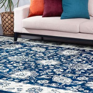 Melrose Navy Traditional Rug by Floorita