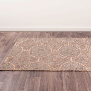 Merino Marsden Grey Wool Rug by Prestige