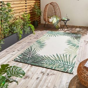 Miami 19435 Light Beige Green Rug by Think Rugs