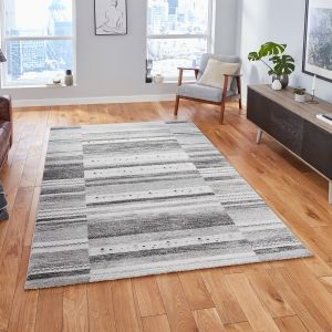 Milano N9534 Grey Traditional Rug by Think Rugs