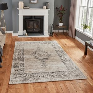 Milano N9695 Beige Traditional Rug by Think Rugs