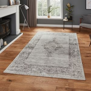 Milano N9695 Grey Traditional Rug by Think Rugs