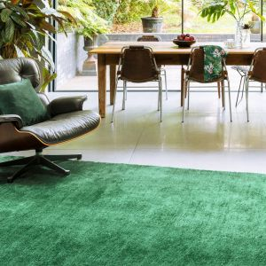 Milo Green Plain Rug by Asiatic
