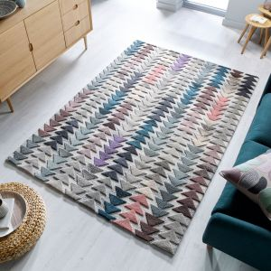 Moda Archer Multi Wool Rug by Flair Rugs