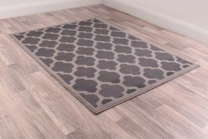 Modern Poly Tiles Grey Rug by Rug Style