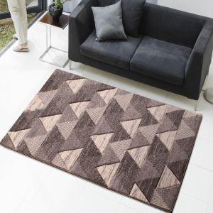 Modern Poly Triangle Grey Rug by Rug Style
