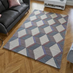 Moderno Brent Natural Wool Rug by Flair Rugs