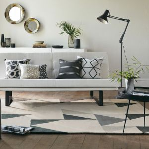 Modul 26704 Charcoal Hand Tufted Wool Rug by Scion