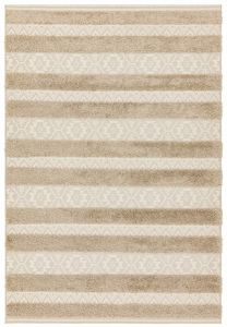 Monty MN04 Natural Striped Rug by Asiatic