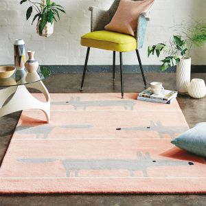 Mr Fox 25302 Blush Hand Tufted Wool Rug by Scion