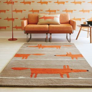 Mr Fox 25303 Cinnamon Hand Tufted Wool Rug by Scion