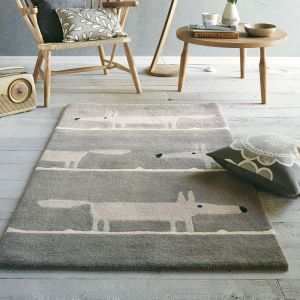Mr Fox 25304 Silver Hand Tufted Wool Rug by Scion