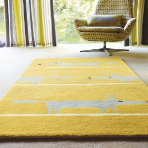 r Fox 25306 Mustard Hand Tufted Wool Rug by Scion