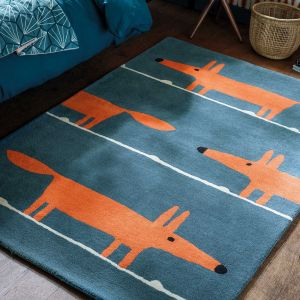Mr Fox 25318 Denim Hand Tufted Wool Rug by Scion
