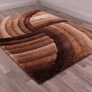 Mumbai Choc Shaggy Rug by Ultimate Rug
