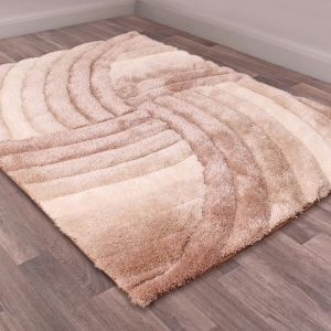 Mumbai Natural Shaggy Rug by Ultimate Rug