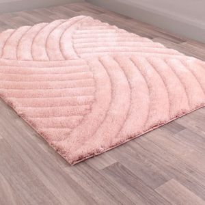 Mumbai Pink Shaggy Rug by Ultimate Rug