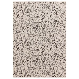 Muse MU11 Cream Black Dotted Rug by Asiatic