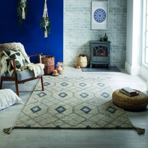 Nappe Diego Grey Wool Rug by Flair Rugs