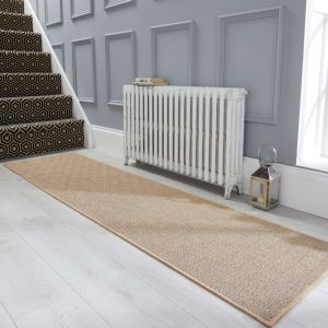 Natural Fibre Herringbone Diamond Navy Rug by Flair Rugs