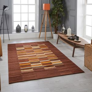 Navajo Stripe Multi Wool Rug by Oriental Weavers