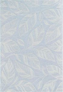 Newquay 096-0014 5009 96 Pastel Blue Flatwoven Rug by Mastercraft