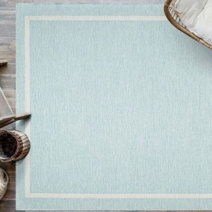 Newquay 096-0027 5013 96 Patel Blue Flatwoven Rug by Mastercraft