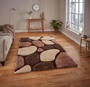 Noble House NH G1631 Beige / Brown Rug by Think Rugs