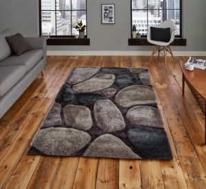 Noble House NH G1631 Grey / Cobalt Rug by Think Rugs