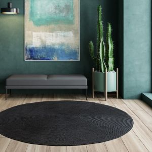 Nico Charcoal Plain Rug by Asiatic