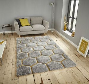 Noble House NH30782 Grey/Yellow Rug by Think