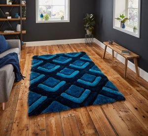 Noble House NH8199 Dark Blue Rug by Think Rugs