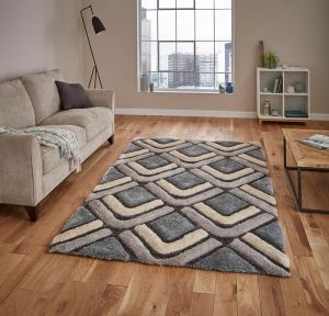 Noble House NH8199 Grey/Blue Rug by Think Rugs