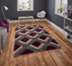 Noble House NH8199 Grey/Purple Rug by Think Rugs